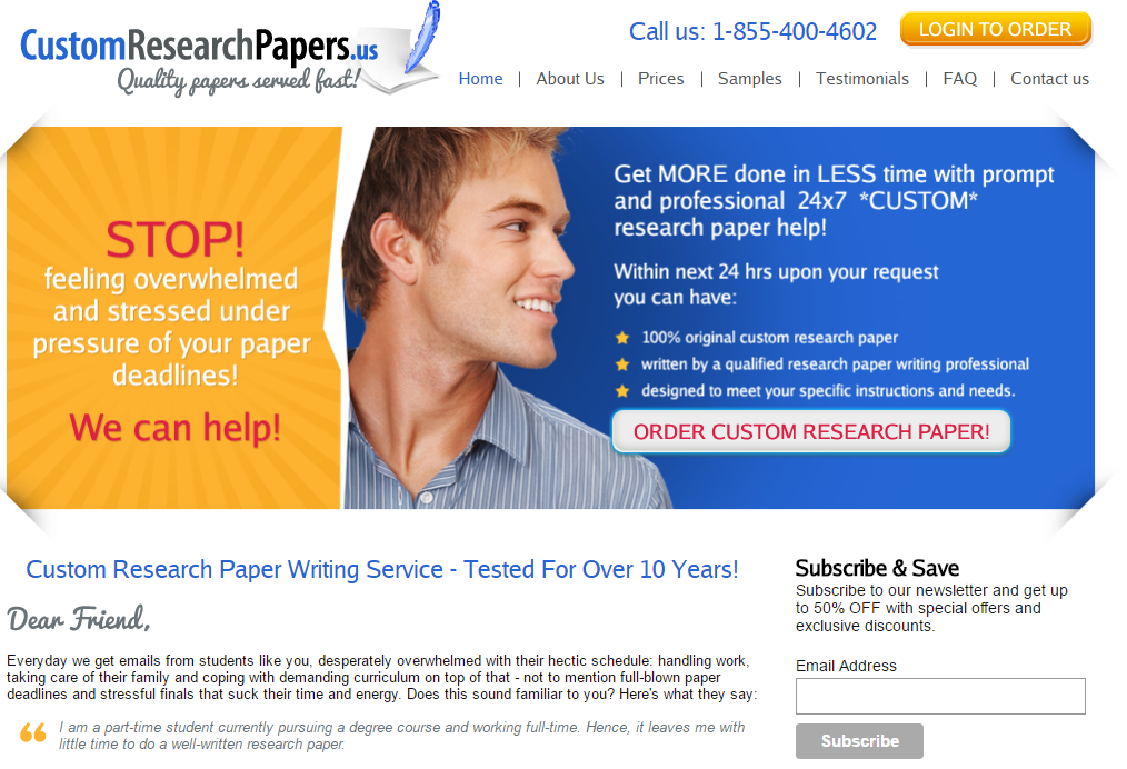 CustomResearchPapers.us review