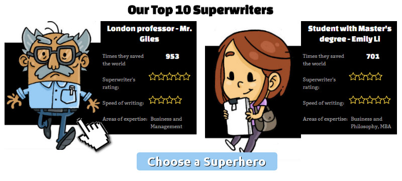 Choose a superhero writer